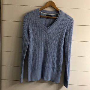 Light Blue Tommy Hilfiger Cable Knit Sweater Large